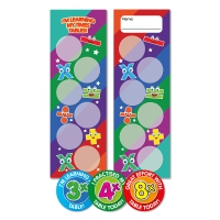 3x, 4x, 8x Times Tables Bookmark And Stickers Class Pack