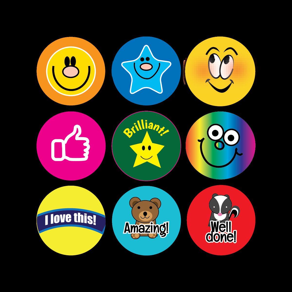 Sticker: Premixed Praise Mini Sticker Bumper Pack - Some Image Only
