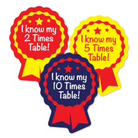 Sticker: Year 2 Times Tables Rosette Quick Pack X2 X5 X10