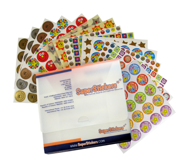 Sticker: Stars And Smiles Quick Pack With Storage Box
