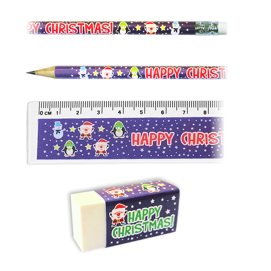 Stationery Set: Happy Christmas Characters