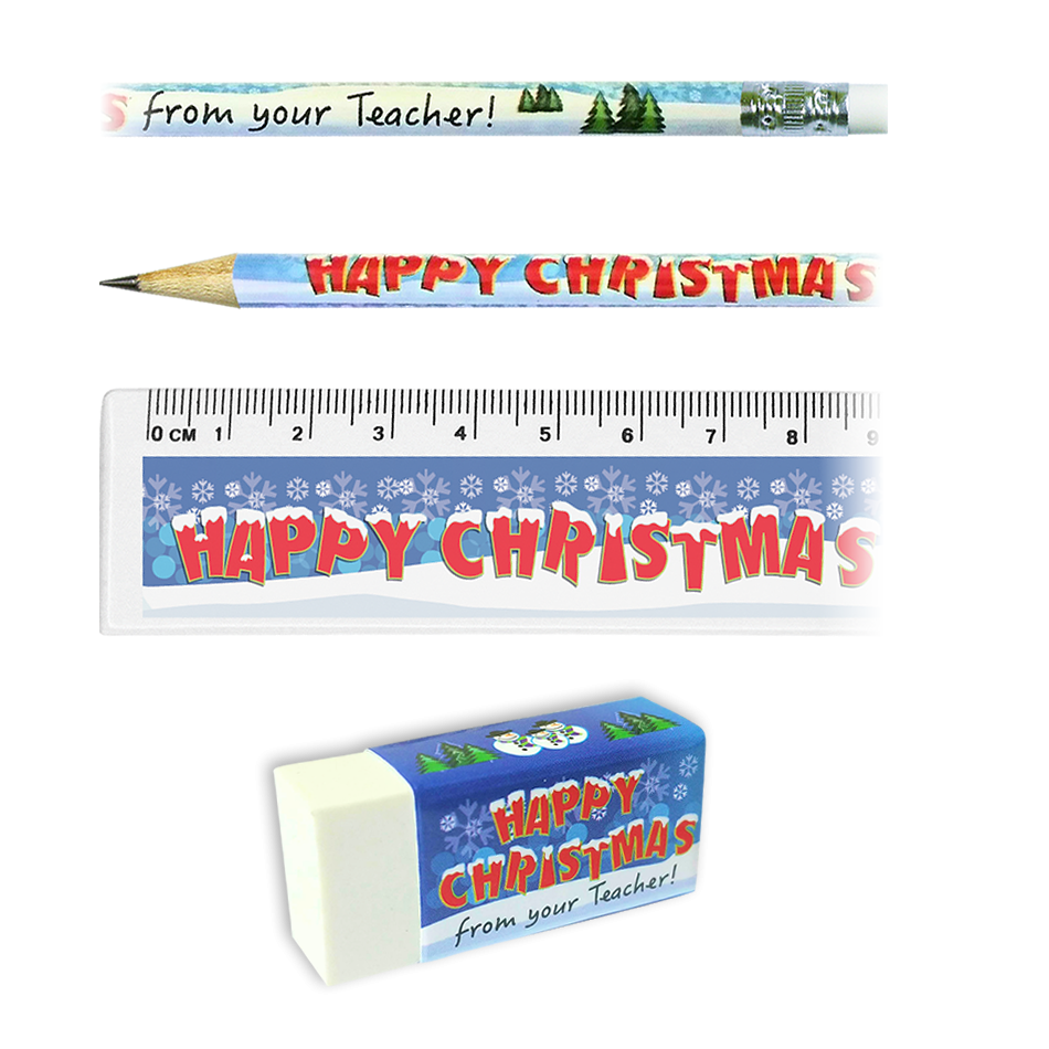 Stationery Set: Happy Christmas From Your Teacher Snowscene