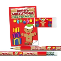 Stationery Set: Happy Christmas From Your Teacher - Gingerbread Man