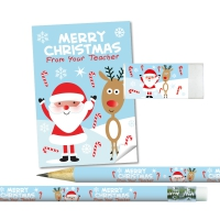 Stationery Set: Merry Christmas From Your Teacher - Santa