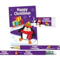 Stationery Set: Happy Christmas - Penguin